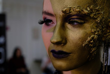 Fashion Art Golden Skin Woman ...