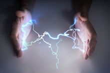 Energy And Lightning In Hands ...