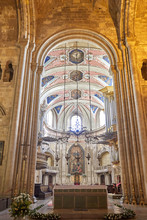 Vertical Shot Of The Interior Of A Church In Lisbon Portugal
