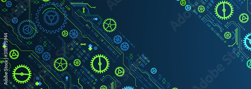 Obraz Abstract technology concept. Computer code background. Vector illustration - fototapety do salonu