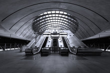 Low Angle View Of Escalator At Airport