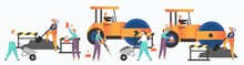 Asphalt Paving Services Vector...