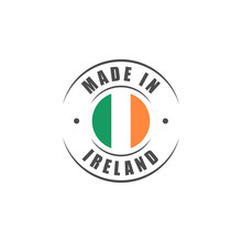 Made In Ireland Label With Iri...