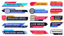Breaking News Banner. Broadcas...