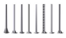 Metal Poles. Steel Constructio...