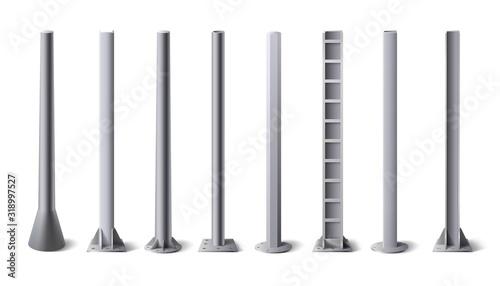 Fotografia Metal poles