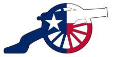 Texan Flag With Civil War Cann...