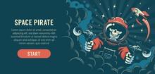 Fantasy Flyer With An Astronau...