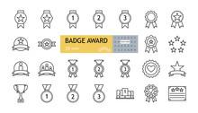 Badge Award Set Icons. A Colle...