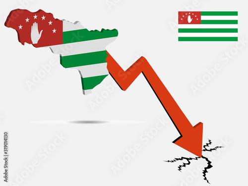 Republic Of Abkhazia economic crisis vector illustration Eps 10 Wallpaper Mural