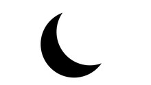 Moon Flat Icon. Sign Sun And Moon.