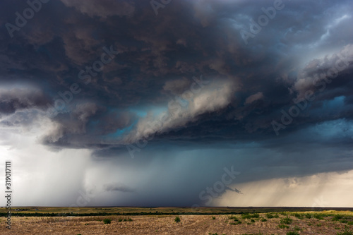 dramatic sky and storm clouds