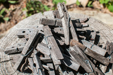 Pile Of Weathered Wooden Laund...