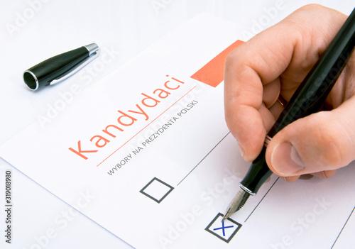 Photo Lista kandydatów w wyborach prezydenckich w Polsce.