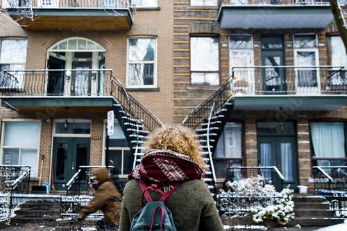 Facade in Montreal, Quebec in Canada
