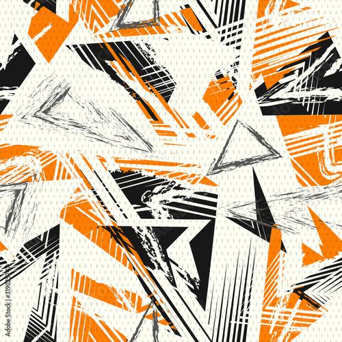 Obraz na płótnie Abstract seamless geometric pattern
