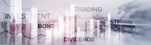 Fotografía Bonds dividends concept