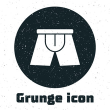 Grunge Men Underpants Icon Iso...
