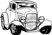 Antique Car Illustration