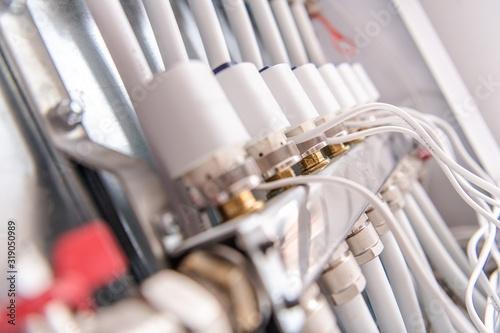 Fototapeta Home Underfloor Heating Valves obraz