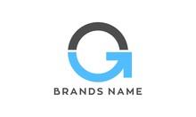 Abstract G Arrow Vector Logo