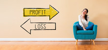 Profit Or Loss With Woman In A...