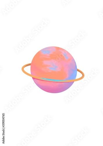ペン画 宇宙 惑星