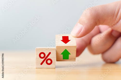 Interest rate financial and mortgage rates concept Fototapet