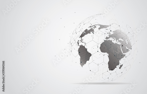 Fotografie, Obraz Global network connection