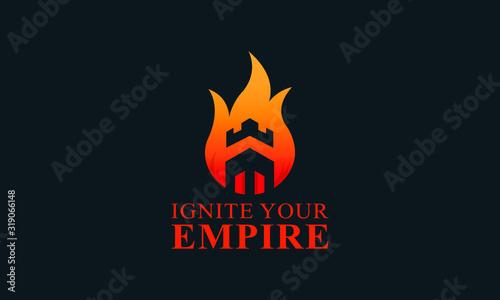 Fotografija Modern abstract colorful Ignite empire logo