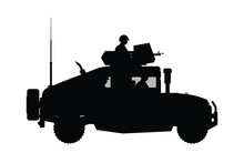 Military Armor Vehicle Silhoue...