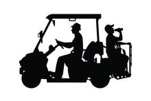 Golf Car Silhouette Vector