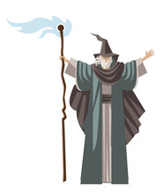 Old Wise Magician Fantasy Wizard