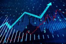 Financial Chart With Upward Ar...