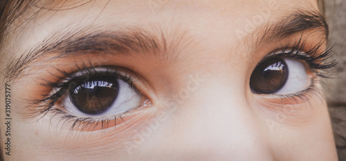 Obraz Cropped Eyes Of Child - fototapety do salonu