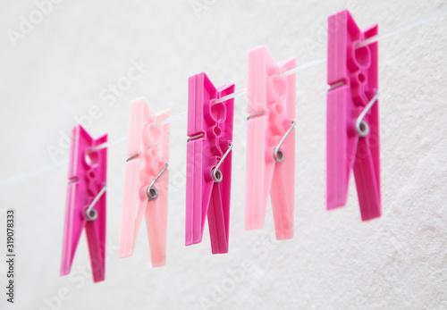 Photo Mollette rosa da bucato
