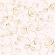 Rose Golden easter eggs seamless vector pattern