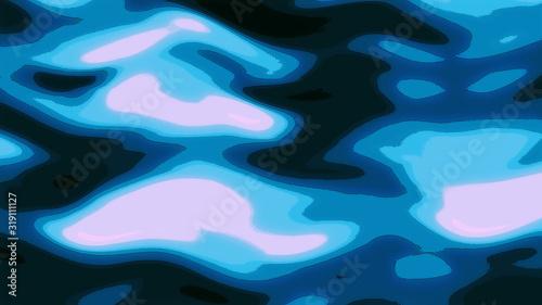 Fototapety, obrazy: 日本画風の水の背景テクスチャ素材