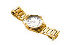 Gold Wristwatch Isolated