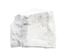 Raw Chalk (white Limestone) Rock Isolated