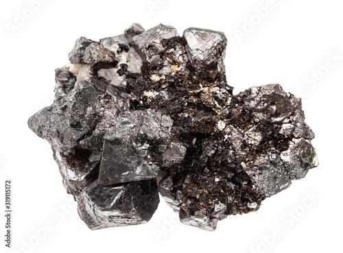 Fotomural crystalline Magnetite (lodestone, iron ore) stone