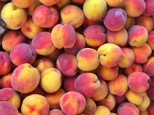 Full Frame Shot Of Peaches For Sale At Market