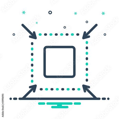 Fotografie, Obraz mix icon for reduce