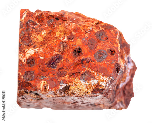 Bauxite (aluminium ore) rock isolated on white Wallpaper Mural