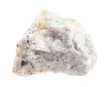 piece of rough Baryte ore isolated on white
