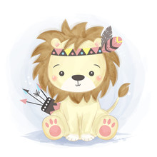 Adorable Lion Illustration For...