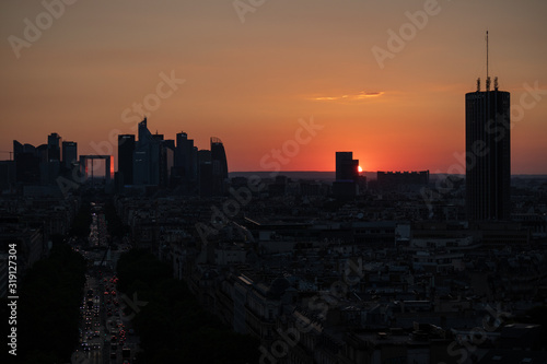 BUILDINGS IN CITY DURING SUNSET