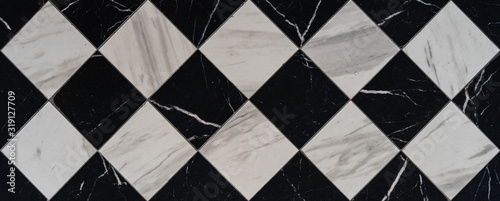 Obraz Directly Above Shot Of Checked Flooring - fototapety do salonu