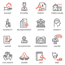 Vector Set Of Linear Icons Rel...