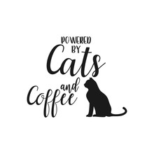 Cat Quote Lettering Typography